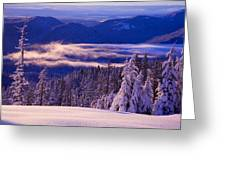 Winter Snow, Cascade Range, Oregon, Usa Greeting Card
