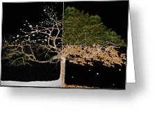 Winter Spring Summer And Fall Greeting Card