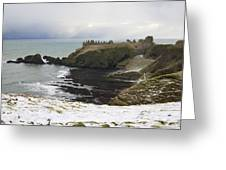 Winter Storm At Dunottar Greeting Card