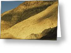 Winter Sunlight On Desert Mountains Greeting Card