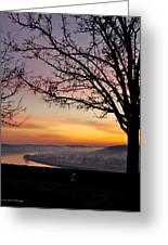 Winter Sunrise In Eden Park Greeting Card