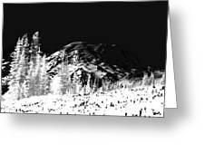 Winter Sunrise On Mount Rainier Greeting Card