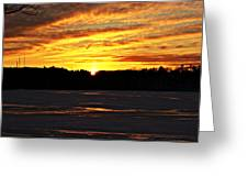 Winter Sunset I Greeting Card