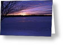 Winter Sunset IIi Greeting Card