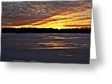 Winter Sunset Iv Greeting Card