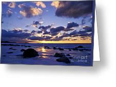 Winter Sunset On Lake Michigan - Fm000053 Greeting Card