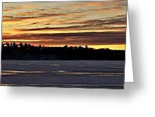 Winter Sunset V Greeting Card
