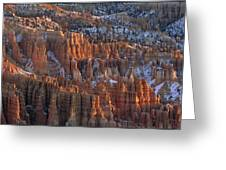 Winter View Of Bryce Canyon National Greeting Card