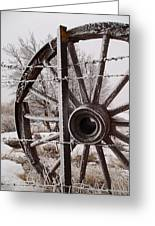 Winter Wheel Greeting Card by Wesley Hahn