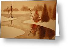 Winterbend Greeting Card
