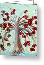 Winterblooms Greeting Card by Ayasha Loya
