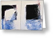 Winters Here - Then Diptych Greeting Card