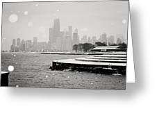 Wintery Chicago Greeting Card