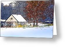 Winther In The Wood Greeting Card