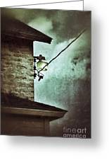 Wires On House In Storm Greeting Card