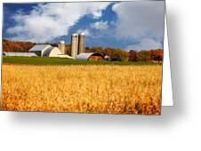 Wisconsin Farm In Fall Greeting Card