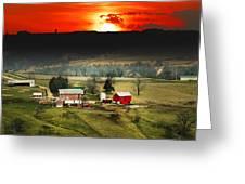 Wisconsin Farm Greeting Card