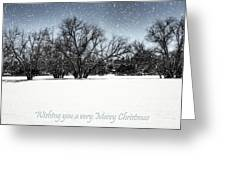 Wishing You A Very Merry Christmas Greeting Card