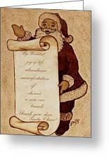 Wishlist For Santa Claus  Greeting Card by Georgeta  Blanaru