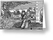 Witch Burning, 1555 Greeting Card by Granger