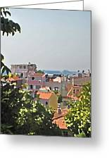 With A Seaview Greeting Card
