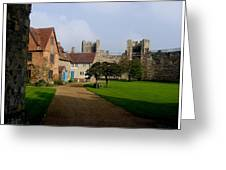 Within The Castle Walls Greeting Card