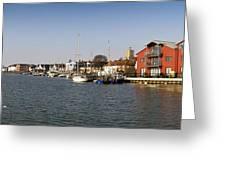 Wivenhoe Waterfront Panorama Greeting Card