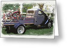 Wizzer Cycle At The Hot Rod Show Greeting Card