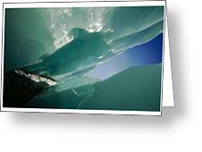 Wolf Creek Flows Through Perennial Ice Greeting Card by Raymond Gehman
