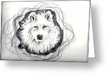 Wolf Totem Greeting Card