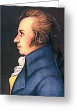 Wolfgang Amadeus Mozart Greeting Card by Granger
