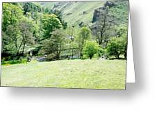 Wolfscote Dale From Gipsy Bank Greeting Card