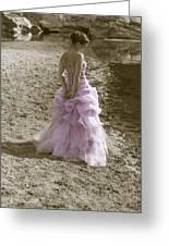 Woman At The Beach Greeting Card