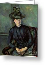 Woman In A Green Hat Greeting Card