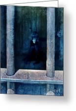 Woman In Jail Greeting Card by Jill Battaglia