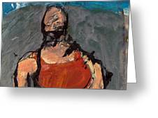 Woman In Landscape 1 Greeting Card