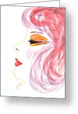 Woman Inner Trust Watercolor Painting Greeting Card