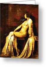 Woman Of The Night Greeting Card