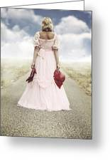 Woman On A Street Greeting Card