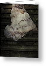 Woman On Steps Greeting Card