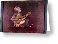 Woman Playing The Lyre Greeting Card