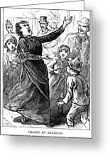 Woman Preaching, 1888 Greeting Card