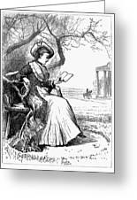 Woman Reading, 1876 Greeting Card