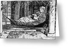 Woman Reading, C1873 Greeting Card