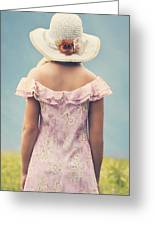 Woman With Hat Greeting Card