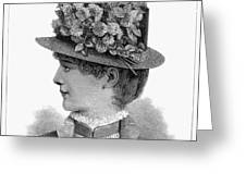 Womans Hat, 1883 Greeting Card