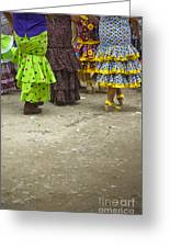 Women And Flamenco Dresses Greeting Card