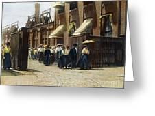 Women Leaving Work, 1895 Greeting Card