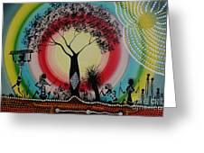 Women Under The Wisdom Tree Greeting Card