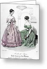 Womens Fashion, 1843 Greeting Card